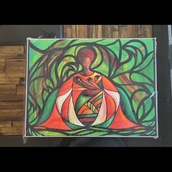 earthy canvas art <3